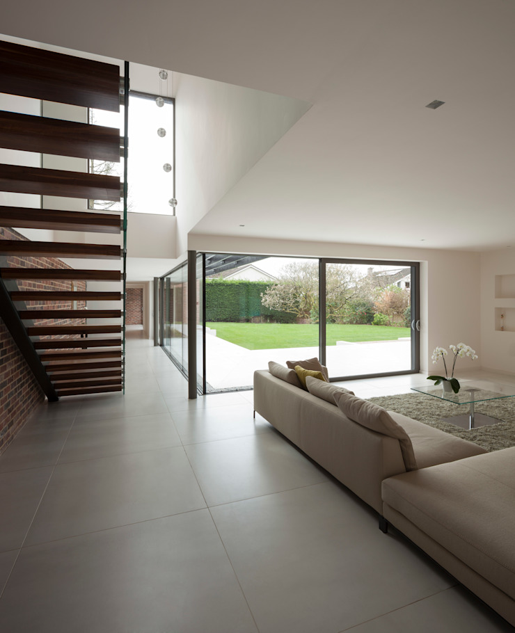 Private House, Cardiff Modern Corridor, Hallway and Staircase by LOYN+CO ARCHITECTS Modern