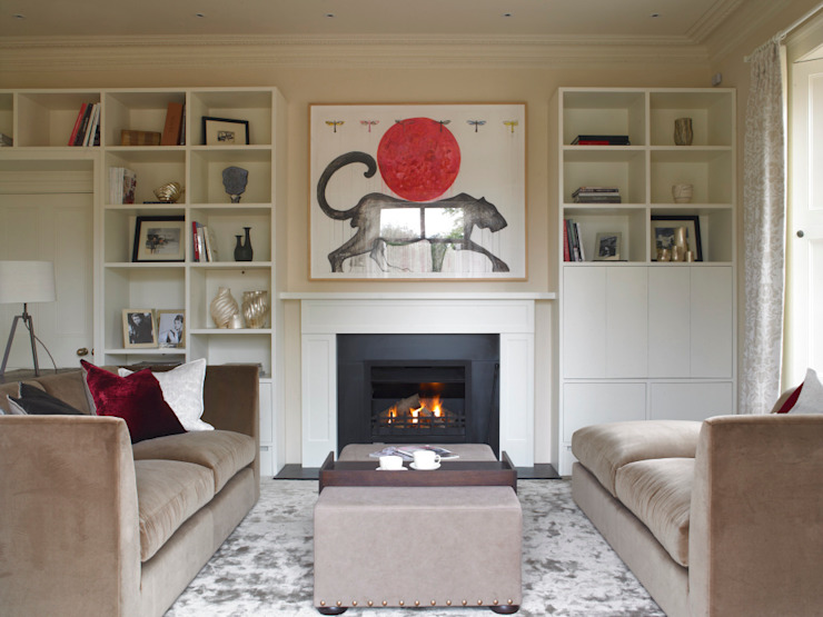 Family snug, Manor Farm, Oxfordshire Modern living room by Concept Interior Design & Decoration Ltd Modern