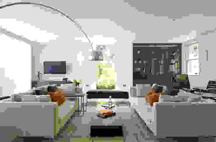 Living Room, Highwood, Berkshire Ruang Keluarga Modern Oleh Concept Interior Design & Decoration Ltd Modern