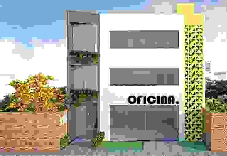 Fachada Ed. Oficina. Espaços comerciais modernos por Impelizieri Arquitetura Moderno