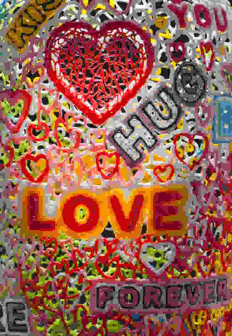 Love Words detail: modern  door Studio Sebastiaan Straatsma, Modern