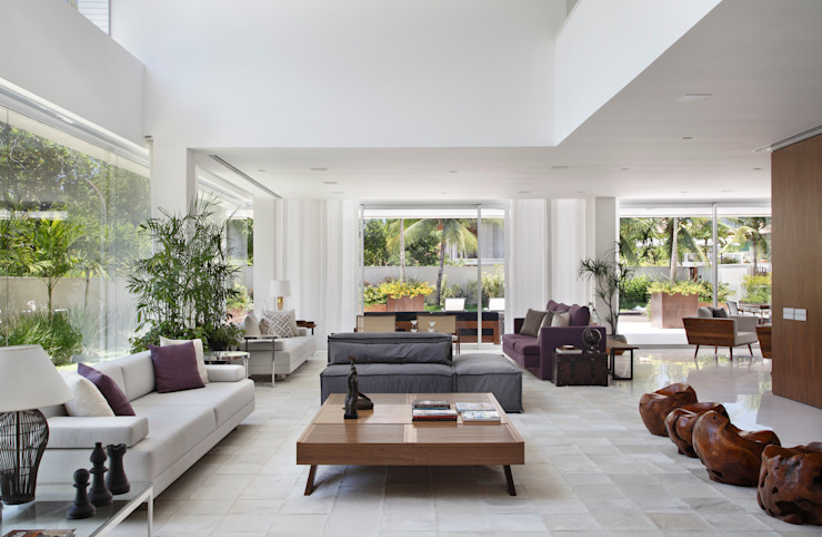 RESIDÊNCIA RP WIMBLEDON Salas de estar modernas por BC Arquitetos Moderno