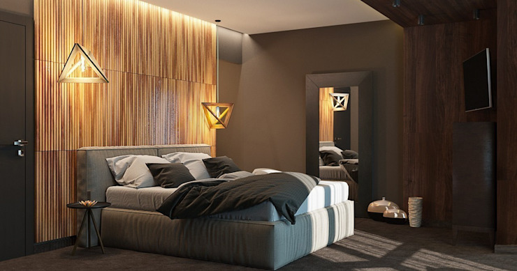 HOT WALLS Modern Bedroom