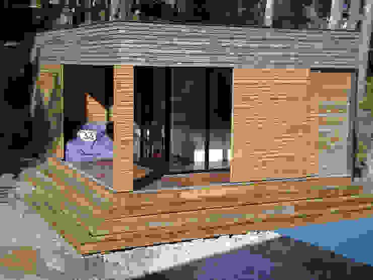 Maison ossature bois Maisons modernes par Clemence de Mierry Grangé Moderne