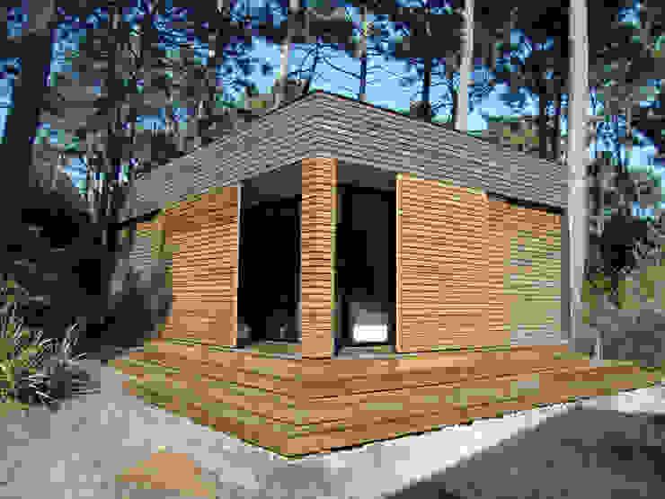 volets entre ouverts Maisons modernes par Clemence de Mierry Grangé Moderne