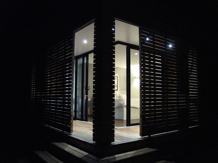 vue de nuit Maisons modernes par Clemence de Mierry Grangé Moderne