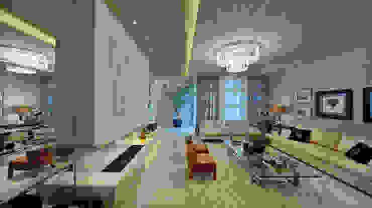 Casa Golden Salas de estar clássicas por E3 ARQUITETURA Clássico
