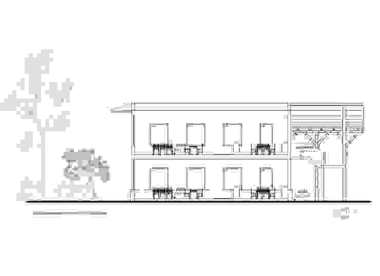 Corte 3 de Komoni Arquitectos Rústico