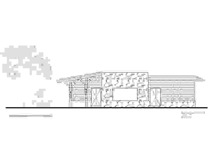 Fachada 1 de Komoni Arquitectos Rústico