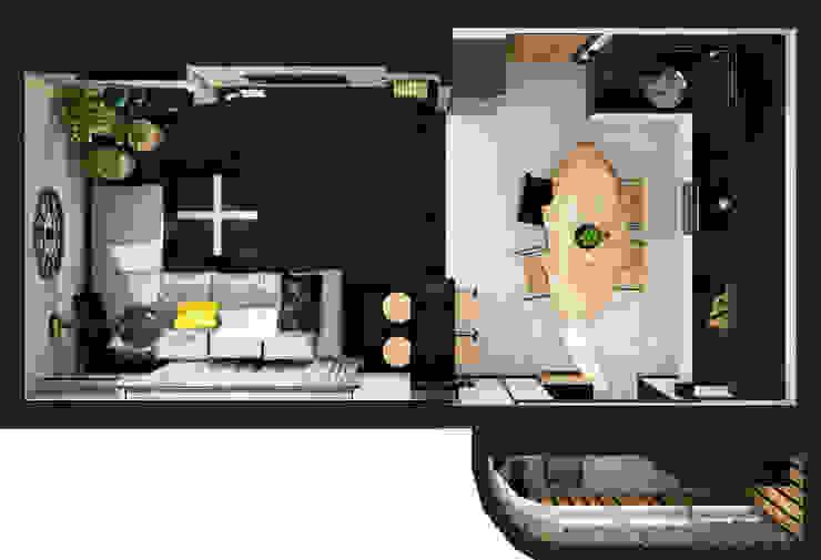Креатив лофта Гостиная в стиле лофт от AbcDesign Лофт