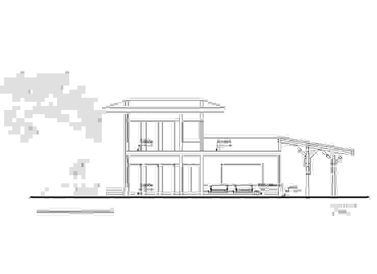 Corte 1 de Komoni Arquitectos Rústico