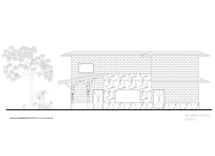 Fachada 2 de Komoni Arquitectos Rústico