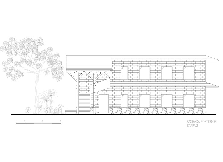 Fachada 4 de Komoni Arquitectos Rústico