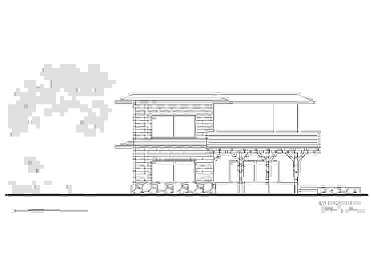 Fachada 6 de Komoni Arquitectos Rústico