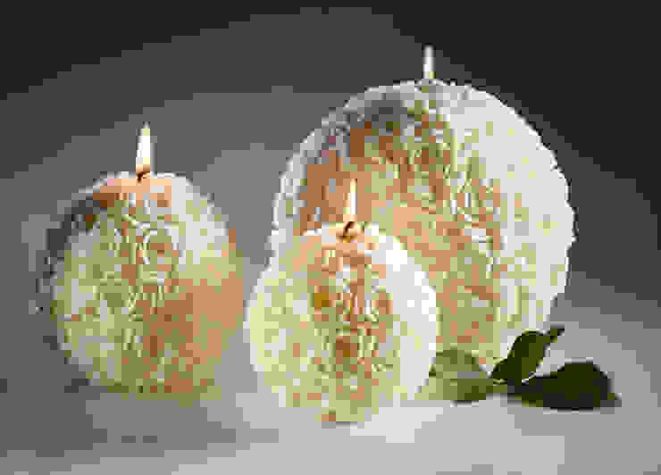 Ivory Rose Ball Candles Amelia Candles SalasAccesorios y decoración