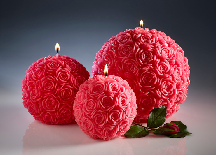 Red Rose Ball Candles Amelia Candles Living roomAccessories & decoration