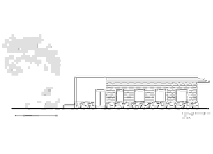 Fachada 3 de Komoni Arquitectos Rústico