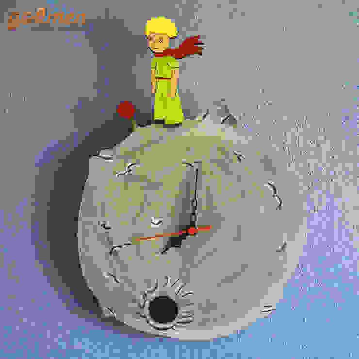 Ahşap Küçük Prens Duvar Saati / Wooden Little Prince Wall Clock Gökmen Ahşap Oyuncak ve Tasarım Klasik