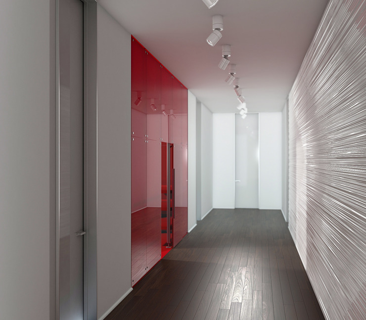ミニマルスタイルの 玄関&廊下&階段 の Nox ミニマル