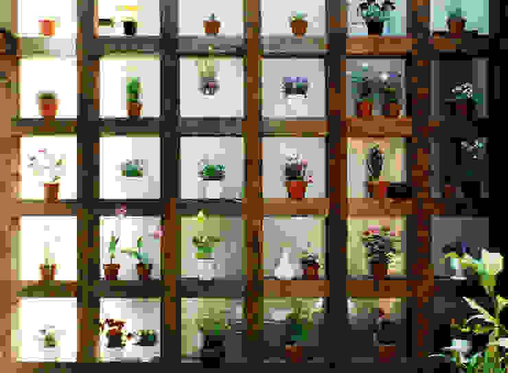 土間でサンマの焼ける家: ユミラ建築設計室が手掛けた壁です。,モダン