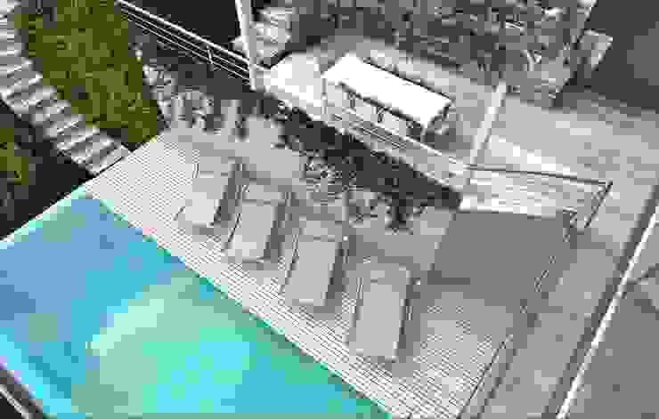 render zona piscina Piscina moderna di ARTREADY Moderno