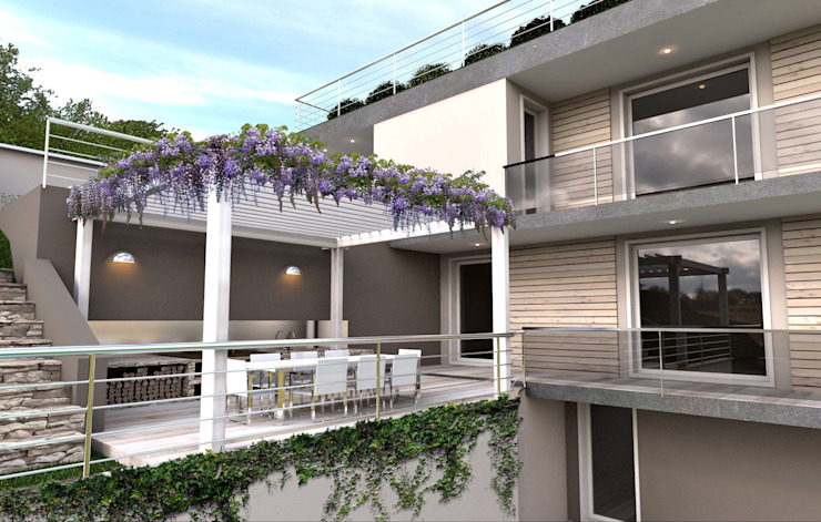 Balcones y terrazas de estilo moderno de ARTREADY Moderno