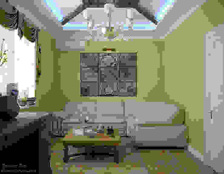 """Дизайн кабинета в классическом английском стиле в коттеджном поселке """"Виктория"""" Рабочий кабинет в классическом стиле от Студия интерьерного дизайна happy.design Классический"""