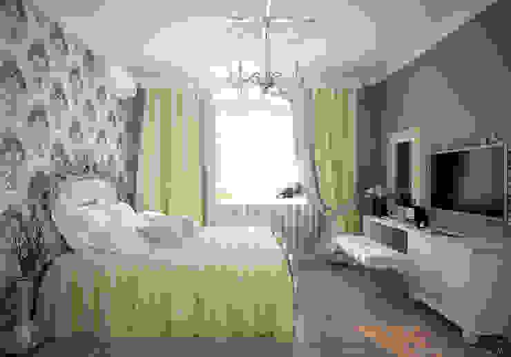 """Дизайн спальни в классическом стиле в коттеджном поселке """"Виктория"""" Спальня в классическом стиле от Студия интерьерного дизайна happy.design Классический"""