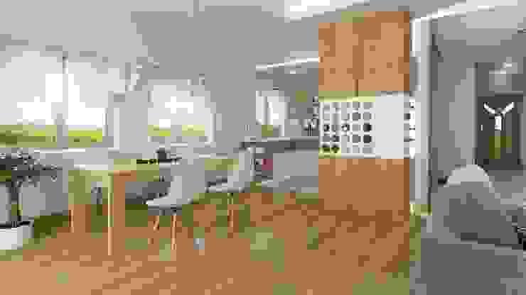 Comedores de estilo moderno de D2 Studio Moderno