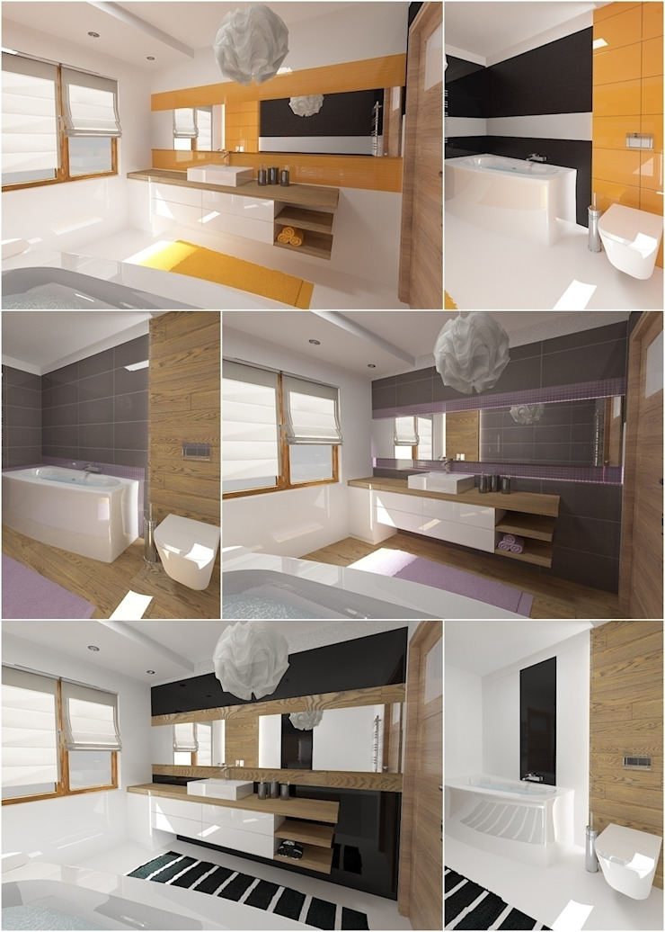 Baños de estilo moderno de D2 Studio Moderno