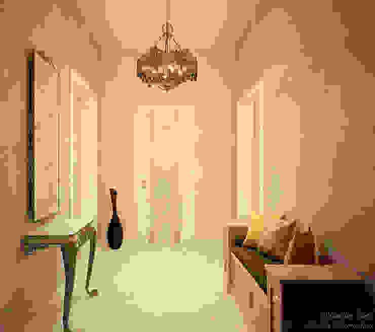 Couloir, entrée, escaliers originaux par Студия интерьерного дизайна happy.design Éclectique