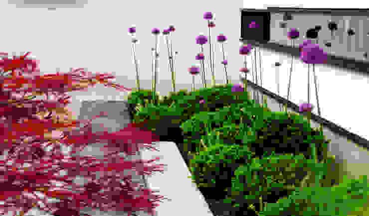 Giardino moderno di 山越健造デザインスタジオ Kenzo Yamakoshi Design Studio Moderno