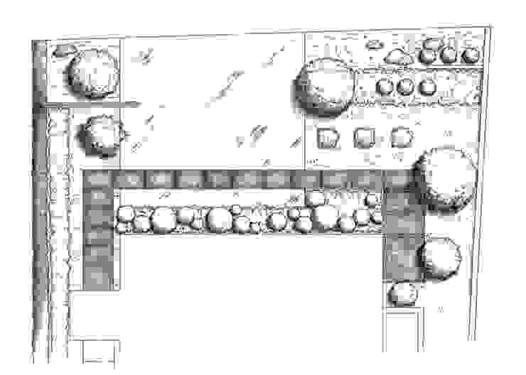 garden M20: 山越健造デザインスタジオ Kenzo Yamakoshi Design Studioが手掛けた現代のです。,モダン