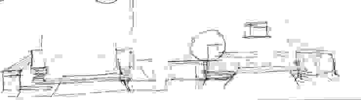 garden M21: 山越健造デザインスタジオ Kenzo Yamakoshi Design Studioが手掛けた現代のです。,モダン