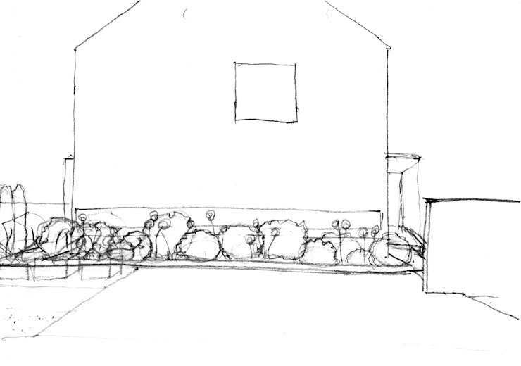 garden M22: 山越健造デザインスタジオ Kenzo Yamakoshi Design Studioが手掛けた現代のです。,モダン