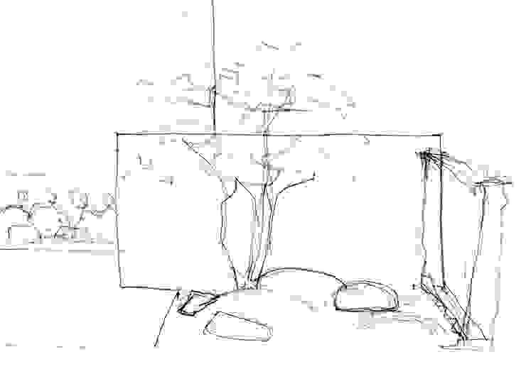 garden M24: 山越健造デザインスタジオ Kenzo Yamakoshi Design Studioが手掛けた現代のです。,モダン