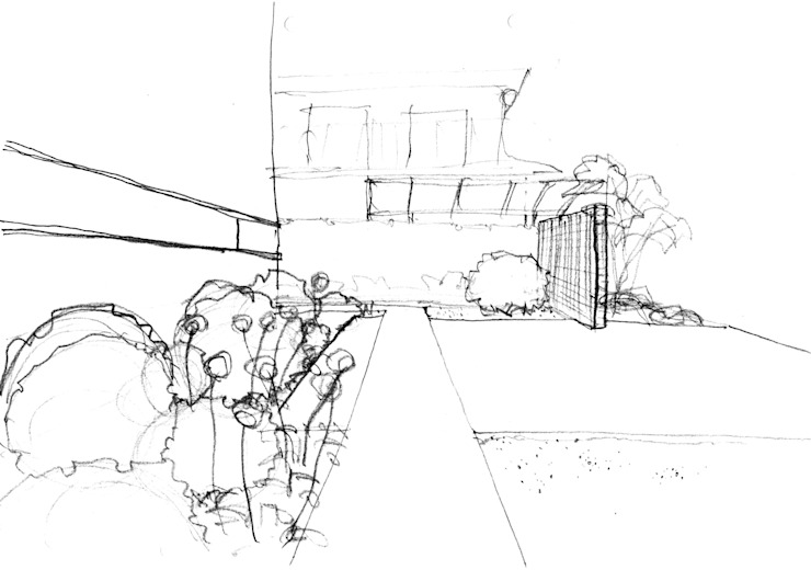 garden M23: 山越健造デザインスタジオ Kenzo Yamakoshi Design Studioが手掛けた現代のです。,モダン
