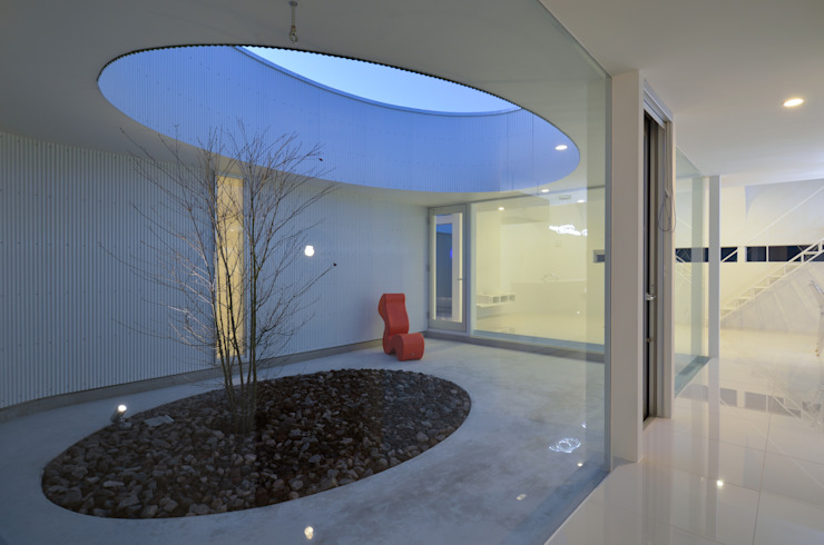 湧水町の住宅: アトリエ環 建築設計事務所が手掛けた庭です。,モダン