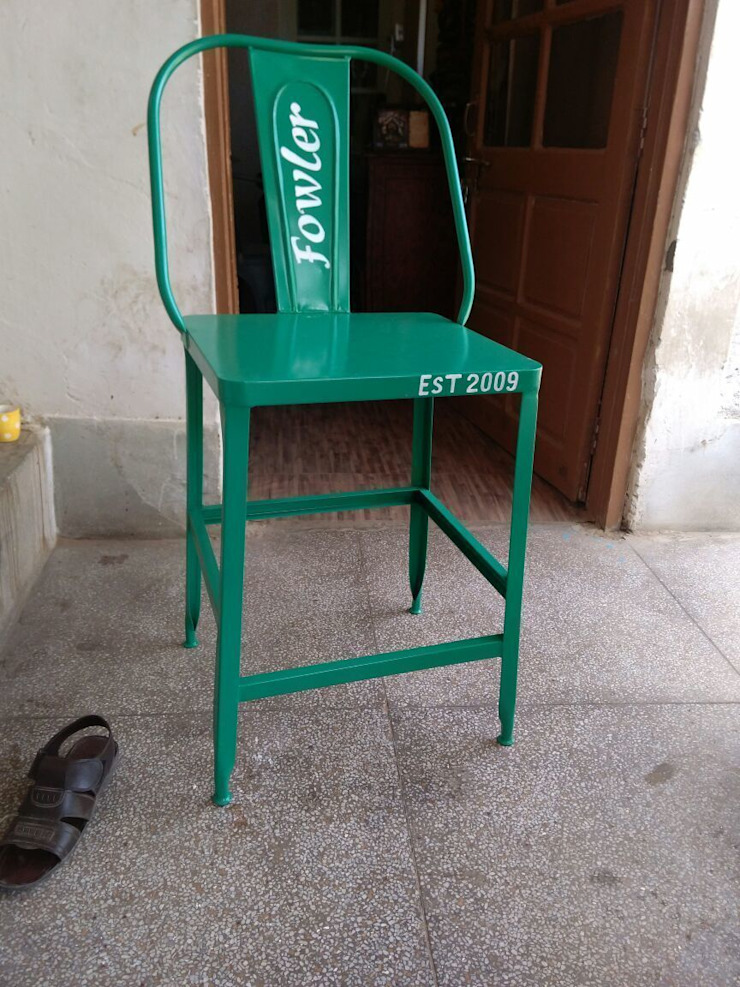Iron Pool side bar chair: industrial  by ALPA CORP,Industrial