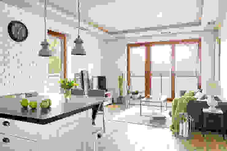 Salon scandinave par ZEN Interiors - Architektura Wnętrz Scandinave