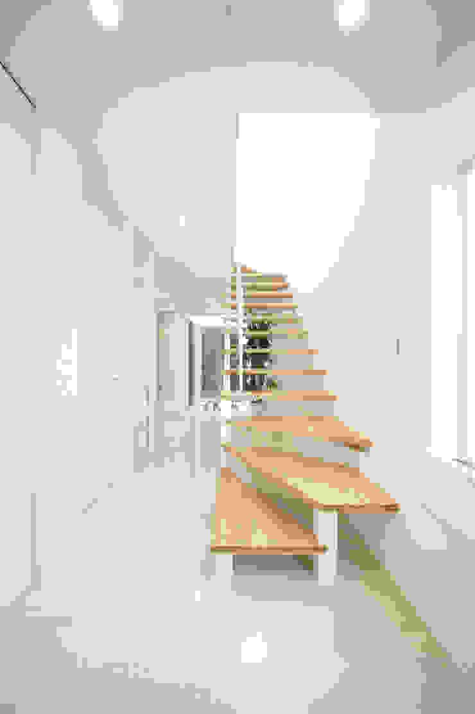 明るいエントランス モダンスタイルの 玄関&廊下&階段 の TERAJIMA ARCHITECTS モダン