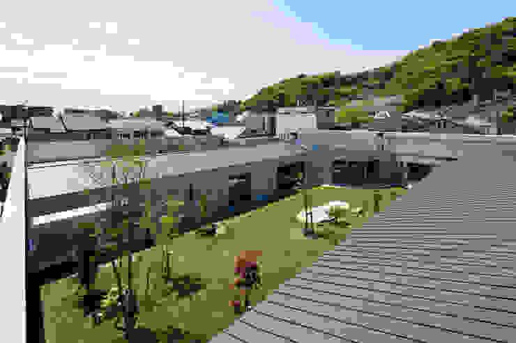 鳥瞰 依田英和建築設計舎 モダンな 家