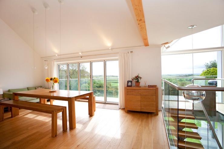 Contemporary Home, Bude, Cornwall Comedores modernos de The Bazeley Partnership Moderno