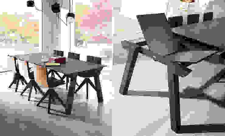 Современная мебель (столовые группы): Столовая комната в . Автор – Немецкие кухни,