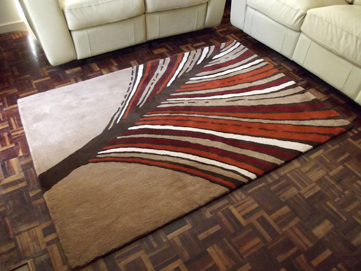 Palm Frond Contemporary Leaf Statement Rug Interiors by Element Walls & flooringCarpets & rugs