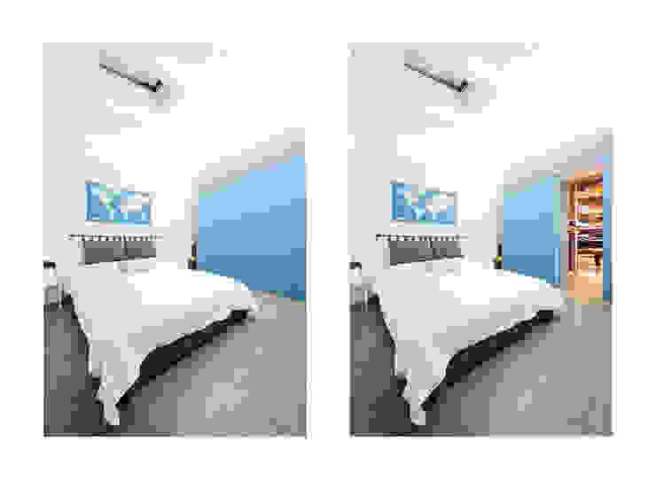 the blue whale Camera da letto minimalista di 23bassi studio di architettura Minimalista