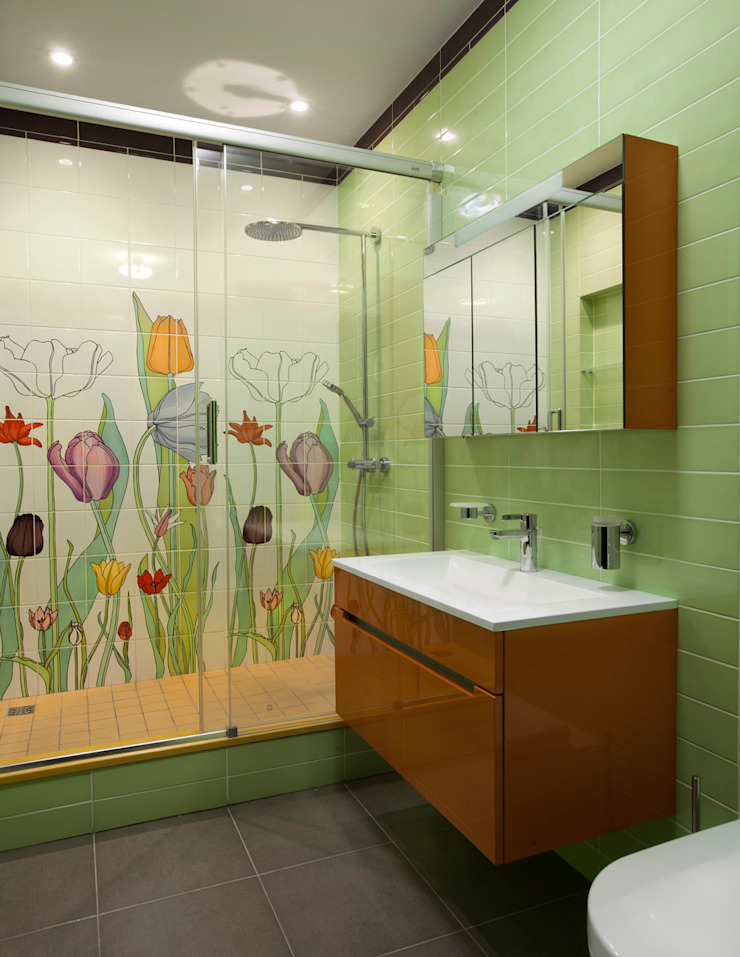 Eclectic style bathrooms by Abwarten! Eclectic