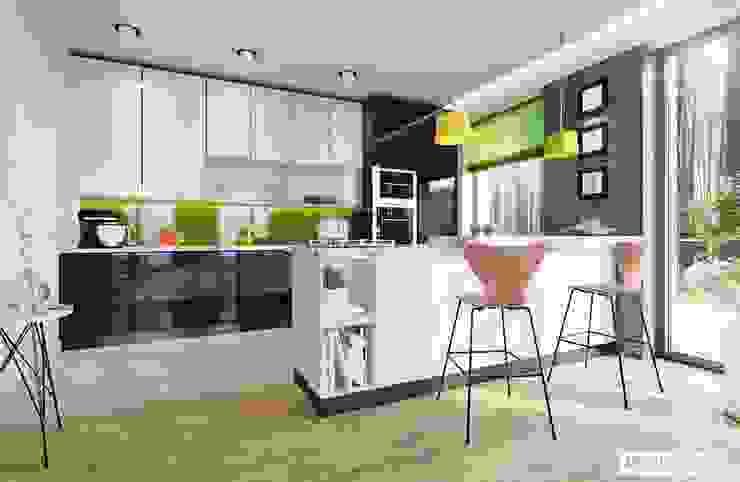 Cozinhas modernas por Pracownia Projektowa ARCHIPELAG Moderno