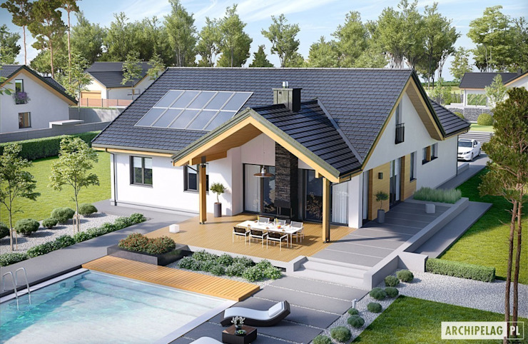 Casas modernas por Pracownia Projektowa ARCHIPELAG Moderno