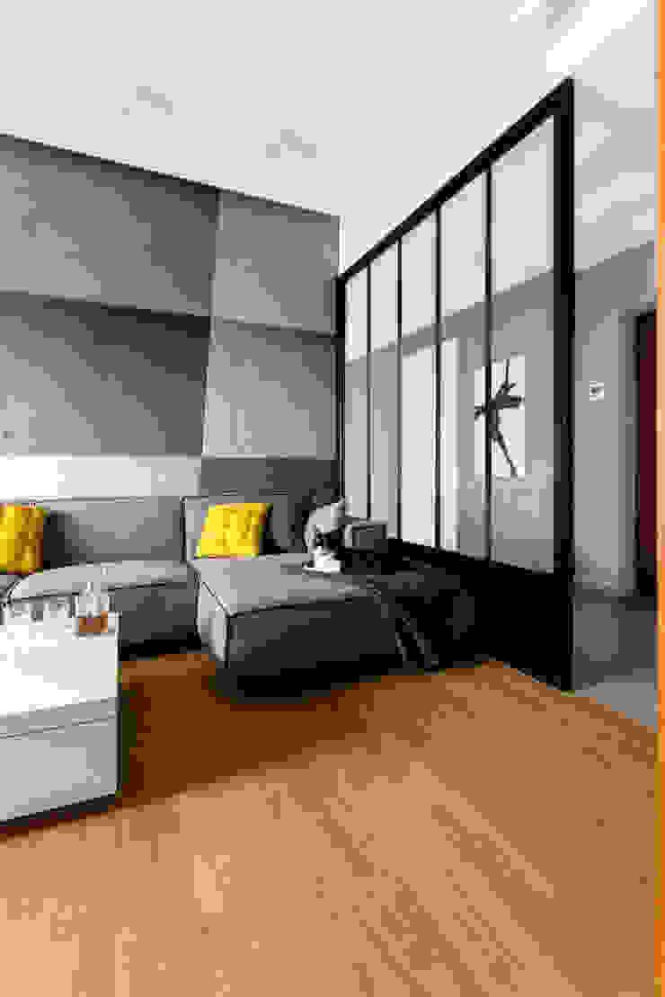 Contractors Living room Concrete Grey